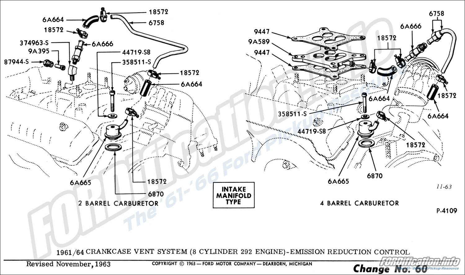 engine related schematics fordification info the 61 66 ford rh fordification info Ford 292 Y Block Engine Ford 272 Cu in Engine