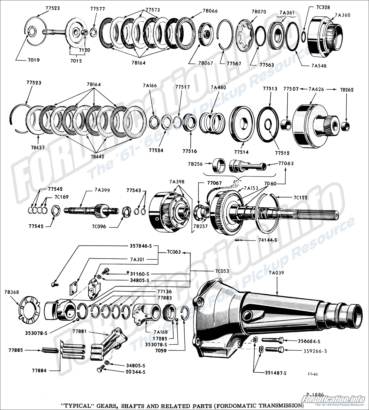 Fordomatic Transmission Diagram Manual Clutch Parts Mpc Drivetrain Schematics Fordification Info The 61 66 Ford Pickup Rh 1963