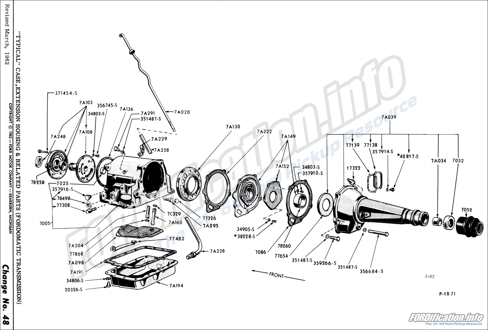 Fordomatic Transmission Diagram Manual Clutch Parts Mpc Drivetrain Schematics Fordification Info The 61 66 Ford Pickup Rh Identification 1986