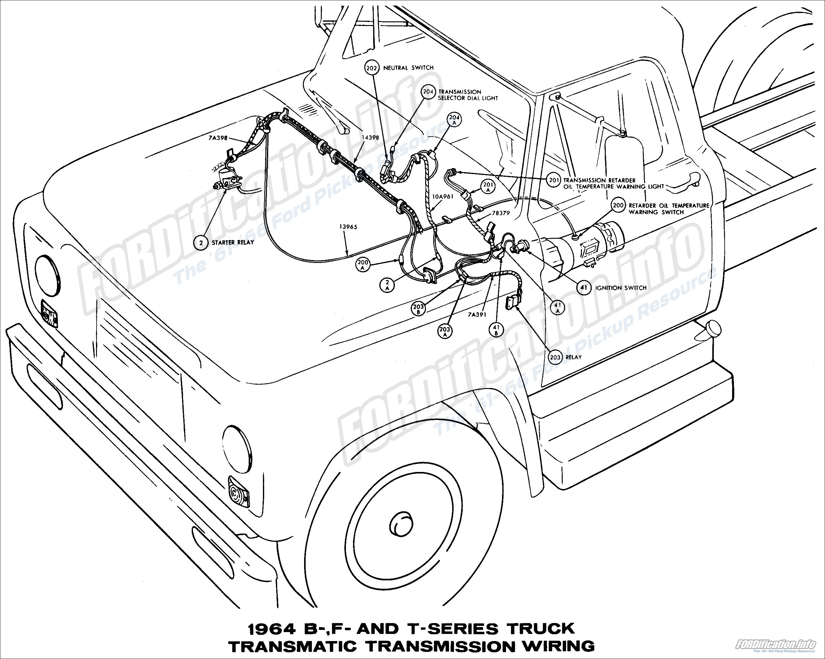 1964_13 1964 ford truck wiring diagrams fordification info the '61 '66 1965 f100 wiring harness at creativeand.co