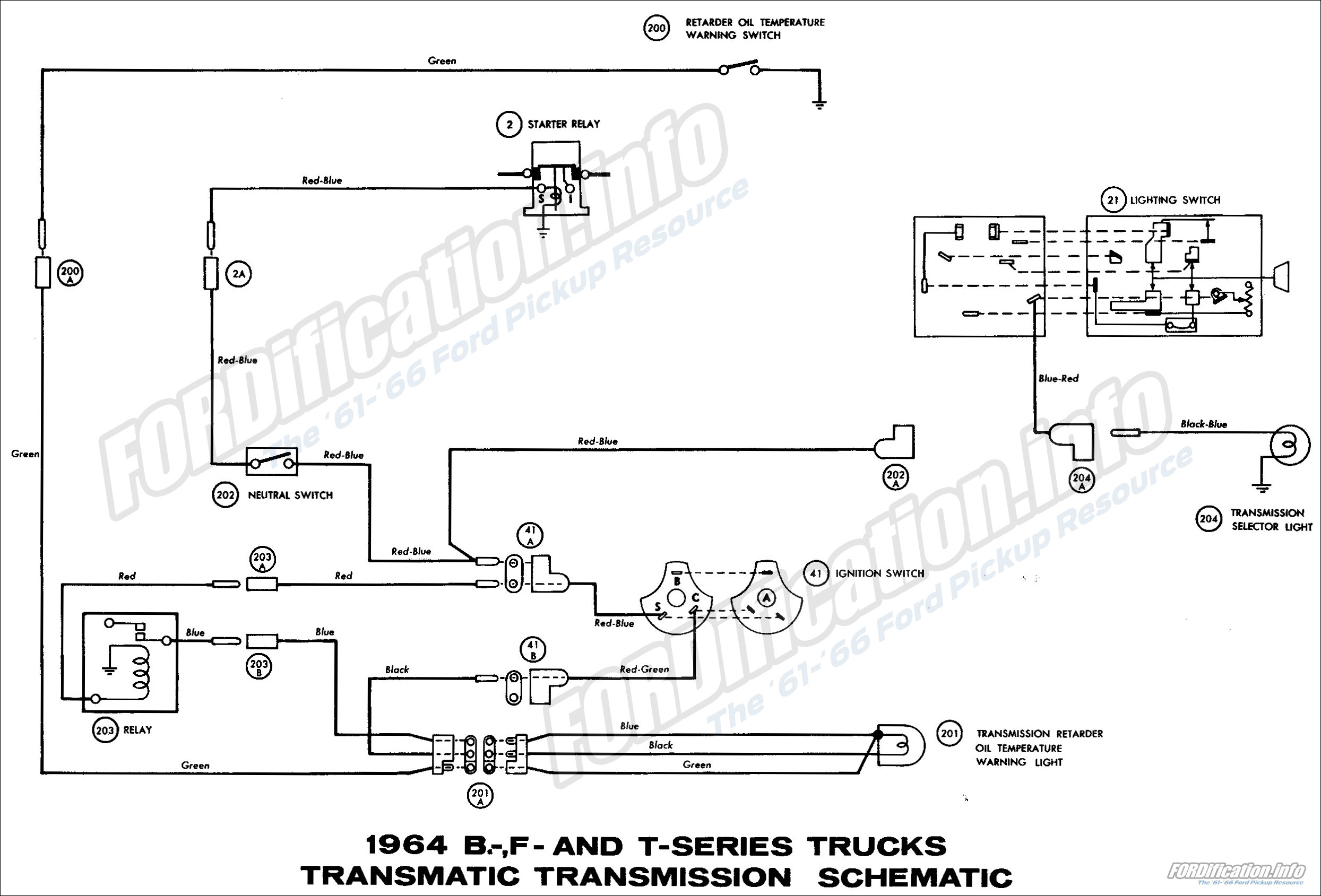1964 ford truck wiring diagrams fordification info the \u002761 \u0027661964 b , f and t series truck transmatic transmission schematic