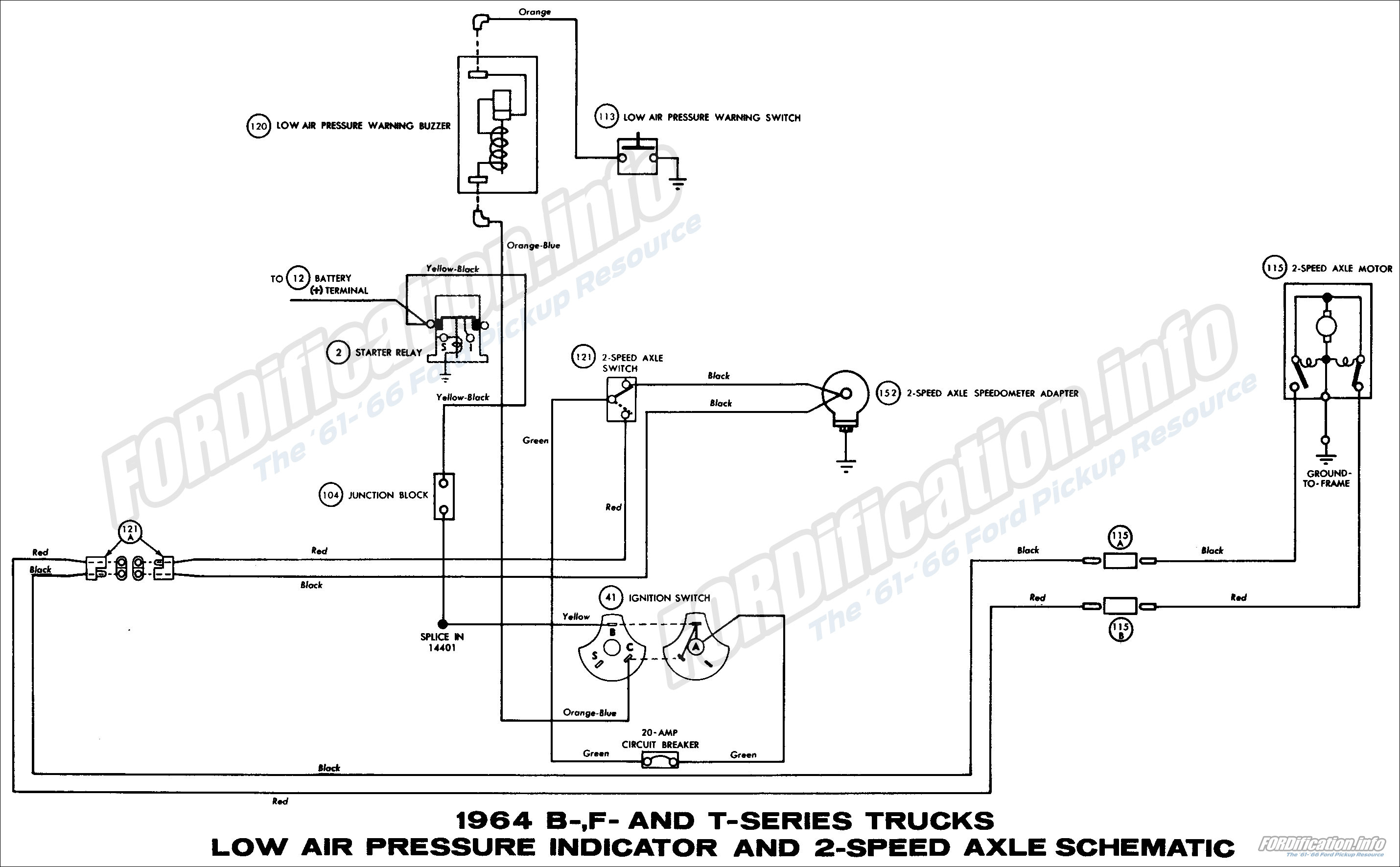 1964_17 1964 ford truck wiring diagrams fordification info the '61 '66 1964 ford wiring diagram at nearapp.co