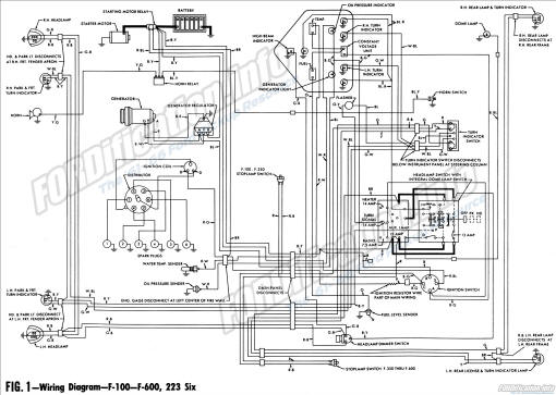 wiring diagram - 1961 f100 thru f600,