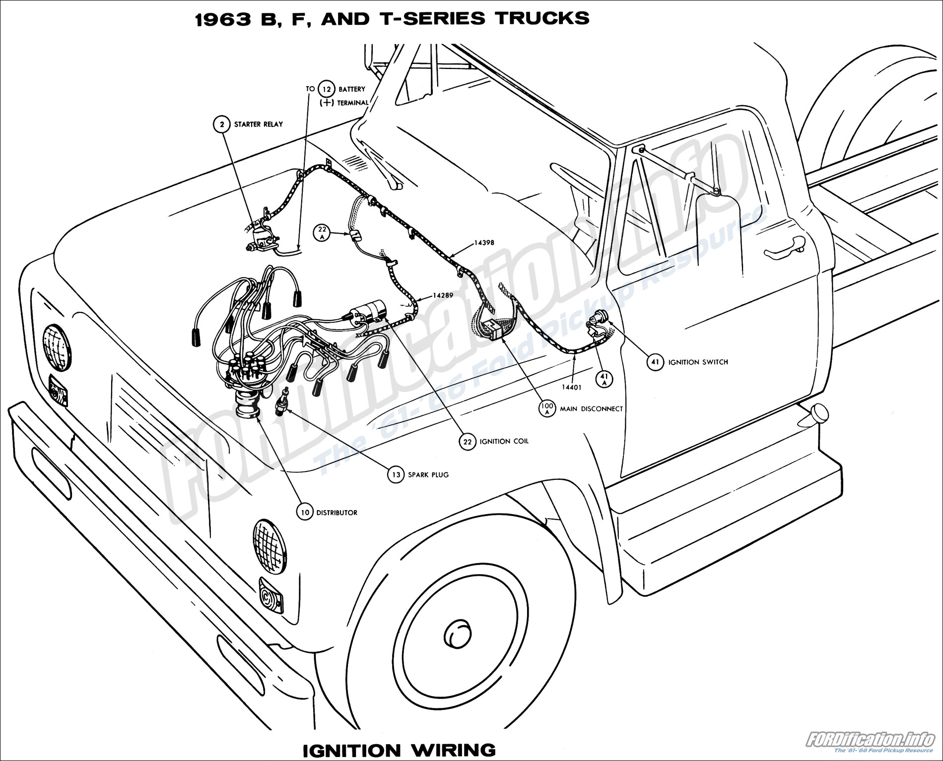 1963 Ford Truck Wiring Diagrams - FORDification.info - The '61-'66  Ford Pickup Wiring Diagram on 55 chevy wiring diagram, 33 ford wiring diagram, 31 ford wiring diagram, 41 chevy wiring diagram, 78 trans am wiring diagram, 41 plymouth wiring diagram, 71 maverick wiring diagram, 40 ford wiring diagram, 68 camaro wiring diagram,