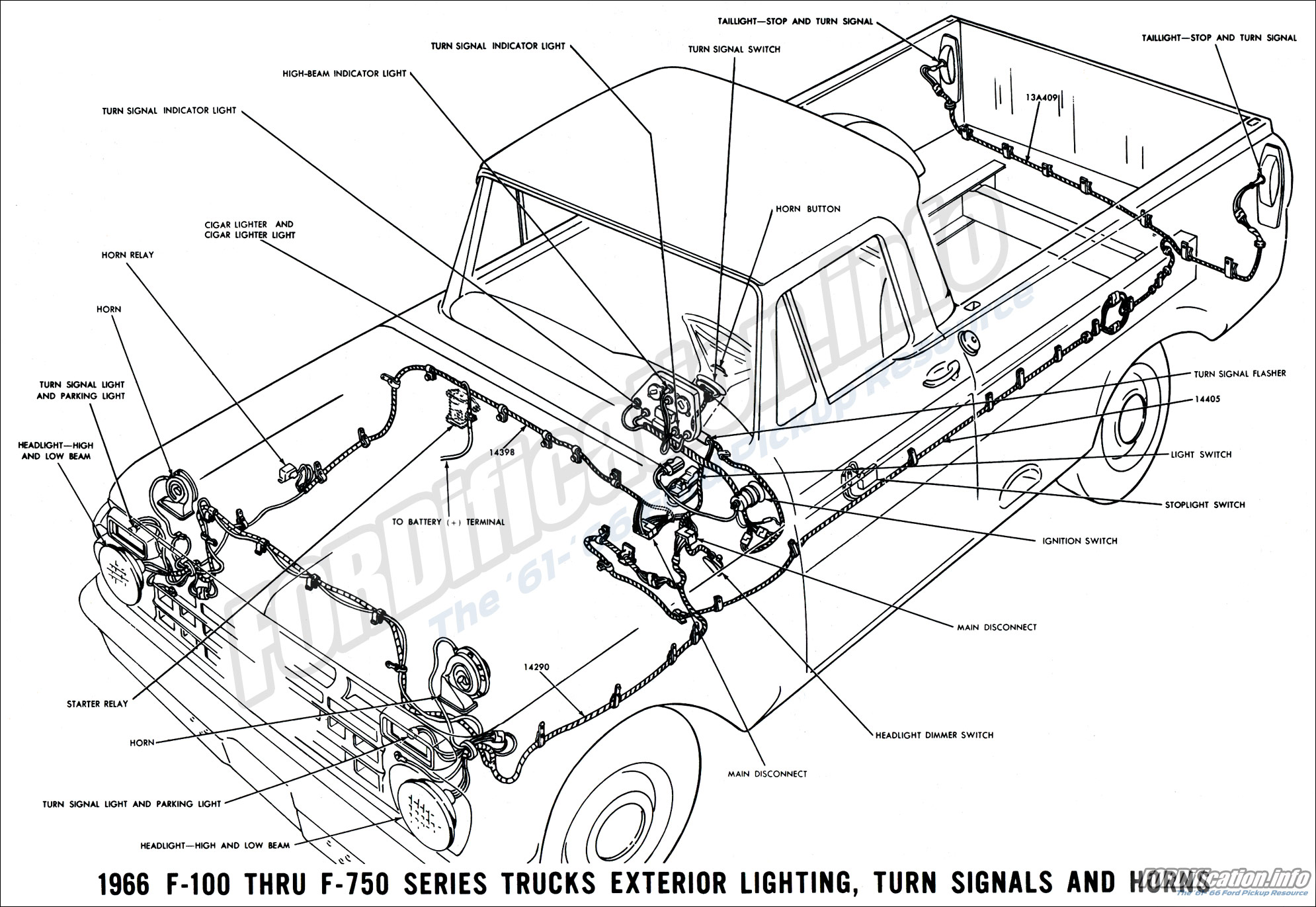 1966 Ford Truck Wiring Diagrams FORDificationinfo The 6166