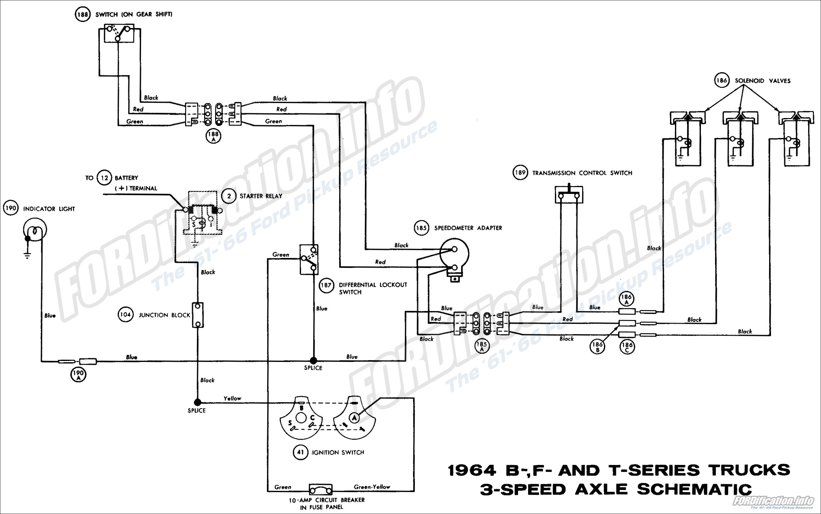 1964 Ford Truck Wiring Diagrams The 61 66 Lighting Circuit Diagram For Two Lights F100 A B F And T Series 3 Speed Axle Schematic